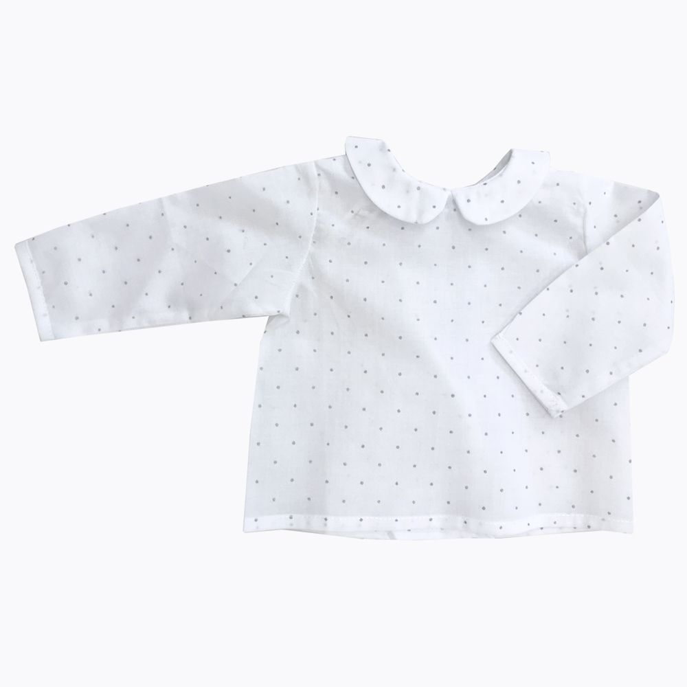camisa platino bebé