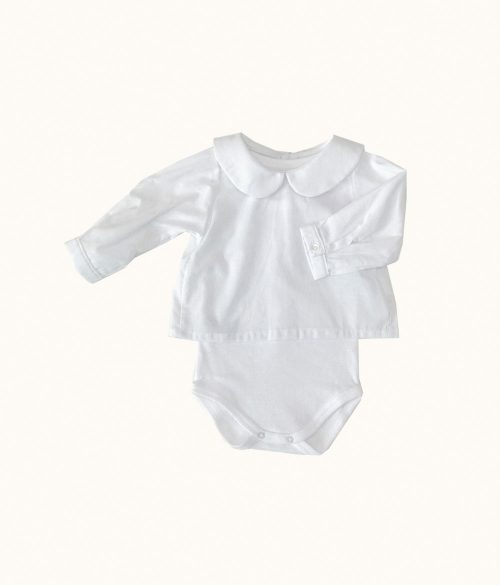 Body Camisa Bebé Blanco